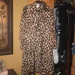 Dolls kill leopard trench size Large never worn